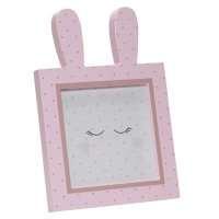Cadre photo lapin 14x14cm miss chipie