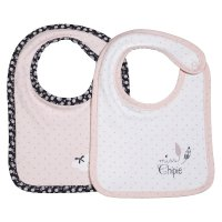 Lot de 2 bavoirs miss chipie