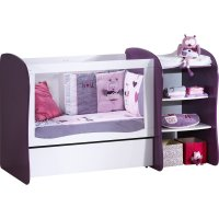 Lit chambre transformable 120x60 pop violette