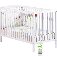 Lit bébé 60 x 120 cm blanc