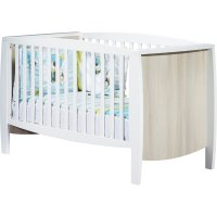 Lit little big bed 70x140cm milk blanc et bois
