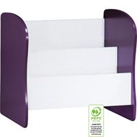 Meuble de rangement évolutif coffre/bibliothèque pop violette