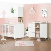 Chambre bébé duo lit 60x120cm + commode happy