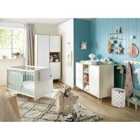 Chambre bébé trio lit 60x120cm + commode + armoire happy