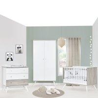 Chambre bébé trio lit 60x120cm + commode+armoire cosy