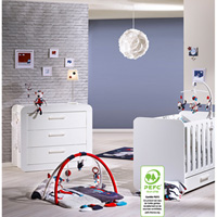 Chambre duo astride blanc lit et commode