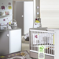 Chambre bébé trio india 3 éléments