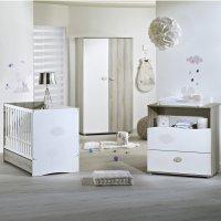 Chambre bébé trio nael lit + commode + armoire