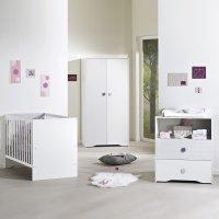 Chambre bébé trio pitchou lit + commode + armoire