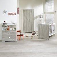Chambre bébé trio loulou lit + commode + armoire