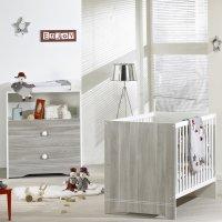 Chambre bébé duo loulou lit + commode