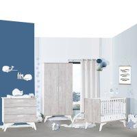 Chambre bébé trio lit 60x120cm + commode + armoire neo