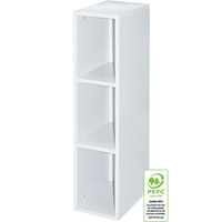 Bibliotheque 3 niches nature blanc