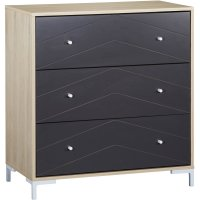 Commode 3 tiroirs dark grey