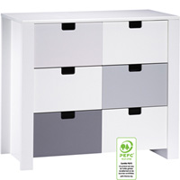 Commode 3 tiroirs city gris