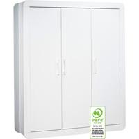 Armoire 3 portes astride blanc