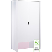 Armoire 2 portes city rose