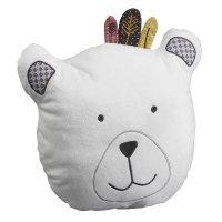 Coussin déco tête d'ours timouki