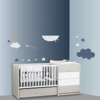 Stickers chambre bébé xxl lune merlin