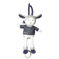 Peluche bébé mini musical merlin