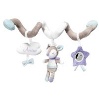 Jouet de lit bébé spirale noisette