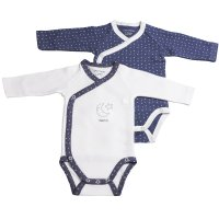 Lot de 2 bodies merlin blanc/bleu