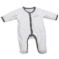 Pyjama velours babyfan blanc/gris
