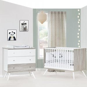 Chambre bébé duo lit 60x120cm + commode cosy