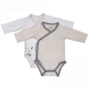 Lot de 2 bodies timouki blanc/beige