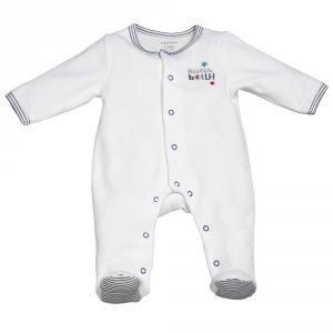 Pyjama bébé velours mister bouh blanc