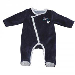 Pyjama bébé velours mister bouh bleu marine