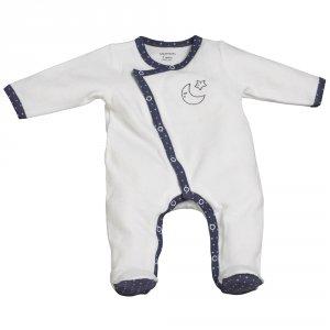 Pyjama bébé velours merlin blanc