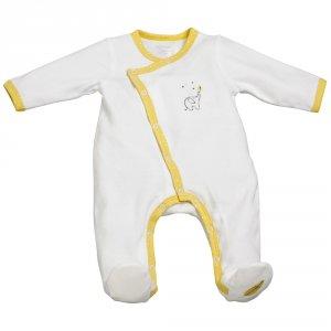 Pyjama bébé velours babyfan blanc/jaune