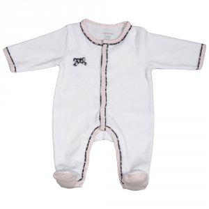 Pyjama bébé velours miss chipie blanc