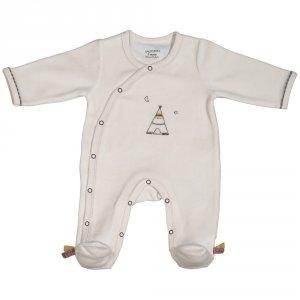 Pyjama bébé velours timouki beige