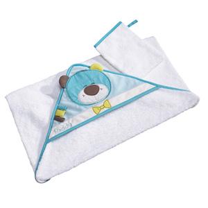 Sortie de bain bébé avec gant paddy