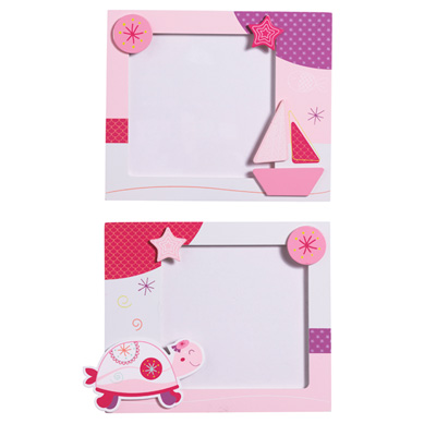 Set de 2 cadres photos tess Sauthon baby deco