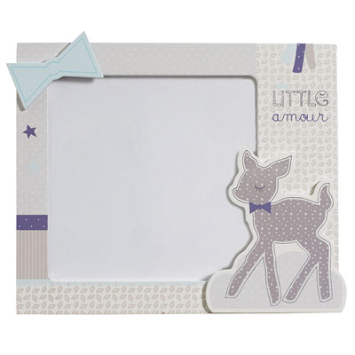 Set de 2 cadres photos noisette Sauthon baby deco