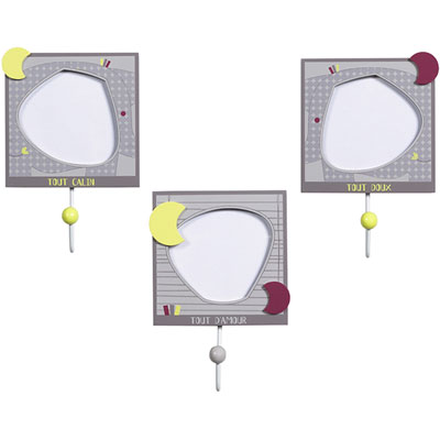 Set de 3 patères india Sauthon baby deco