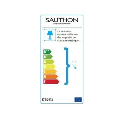 Lampe de chevet carrée lilibelle Sauthon baby deco