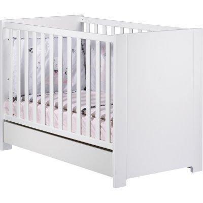 Tiroir pour lit bébé 60x120cm loft blanc Sauthon meubles