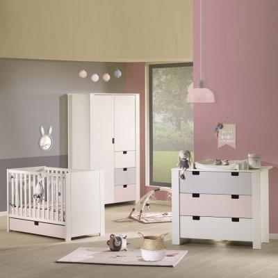 Tiroir pour lit 60x120cm rose city girl Sauthon meubles