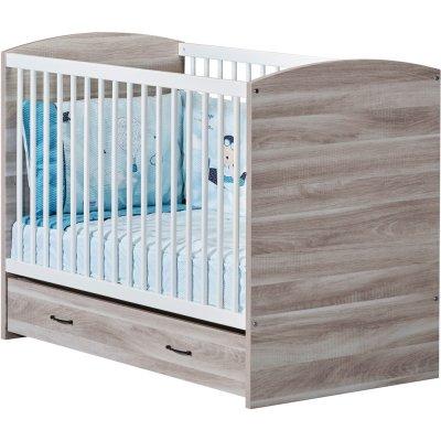Tiroir pour lit bébé 120x60cm vintage silex Sauthon meubles