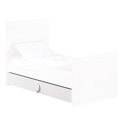 Tiroir pour little big bed zen blanc poignées rondes Sauthon meubles