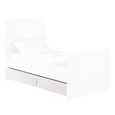 Tiroir pour little big bed zen blanc poignée carré Sauthon meubles