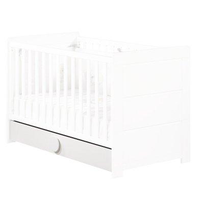 Tiroir pour lit non transformable 60x120 cm zen blanc poignées rondes Sauthon meubles