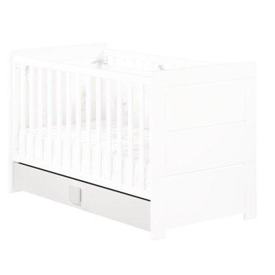 Tiroir pour lit non transformable 60 x 120 cm zen blanc poignée carré Sauthon meubles