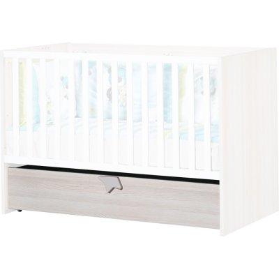 Tiroir de lit sur roulettes pour lit évolutif 70x140cm norway Sauthon meubles