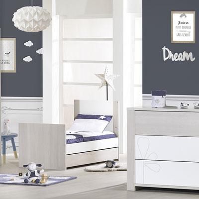 Tiroir pour lit 70x140 opale frêne sablé Sauthon meubles