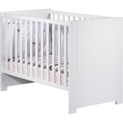 Lit bébé 60x120cm blanc city girl Sauthon meubles